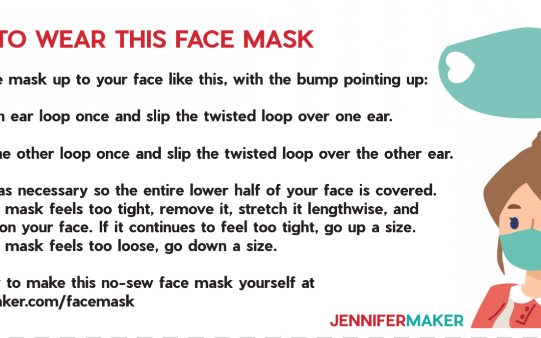Very easy no-sew mask from a t-shirt